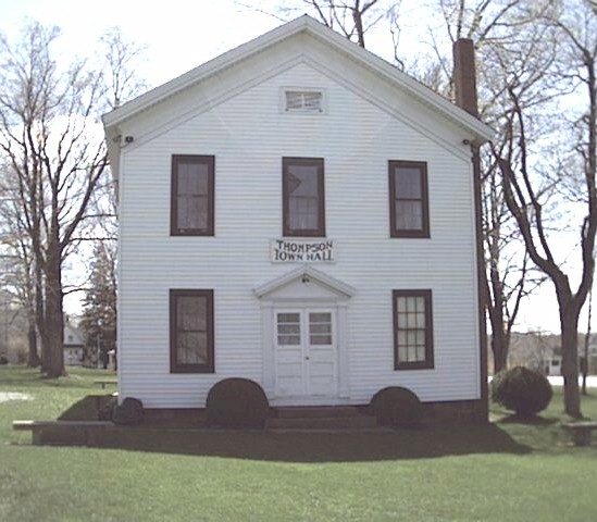Thompson Township Town Hall, built in 1869